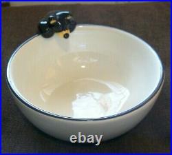 Big Sky Carvers Jim Fleming Bearfoots Chip & Dip Bowl & Platter with Cub / Bear