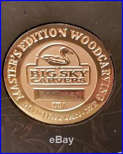 Big Sky Carvers K W White Master Edition Wood Carving Hawk On Branch 200/1250