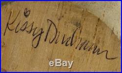 Big Sky Carvers Large Carved Handpainted Wood Duck Goose Signed Kissy Durham