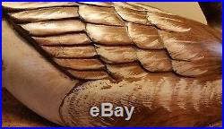 Big Sky Carvers Large Carved Handpainted Wood Duck/Goose. (bps)