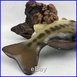 Big Sky Carvers Largemouth Bass Fish On Manzanita Wood Signed Bill Reel