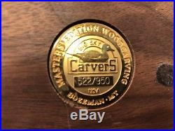 Big Sky Carvers Limited Edition Mother And Baby Ducks Wood Carving Nice