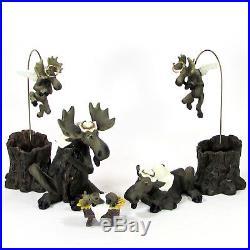 Big Sky Carvers MOOSETIVITY Figurine Set 15Pc Nativity Moose Christmas MIB Rare