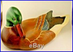Big Sky Carvers Mallard Drake Duck Decoy Wood Artist Signed