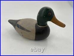 Big Sky Carvers Mallard Drake Duck Decoy Wood Artist Signed Duncan Bullock
