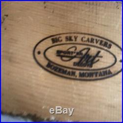 Big Sky Carvers Mallard Duck Wood Carved Decoy Signed Craig Fellows