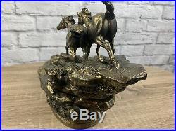 Big Sky Carvers Marc Pierce River Runners Horse Sculpture Fountain Super Rare