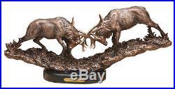 Big Sky Carvers Marc Pierce Signature Collection Elk Sculpture, Royal Battle