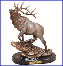 Big Sky Carvers Marc Pierce Signature Series Wildlife Sculpture, Herd Bull Elk