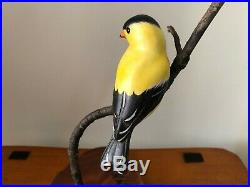 Big Sky Carvers Master's Edition Flying Sunshine Goldfinch by Artist Ken White