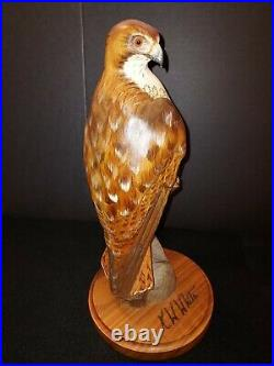 Big Sky Carvers Masters Edition 12 Red Tail Hawk 776/1250 KW White wood bird