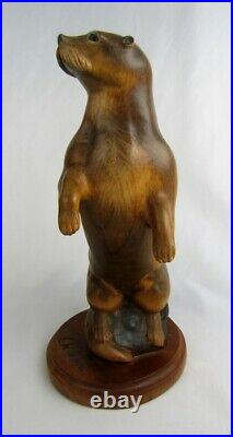 Big Sky Carvers Masters Edition 217/1250 Otter 12 Wood Carving Figurine