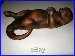 Big Sky Carvers Masters Edition Woodcarving Bozeman Mt 342/1250 USA Otter Wood