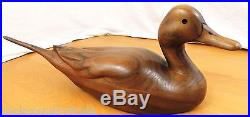 Big Sky Carvers Montana 20 Stained Wooden Pintail Duck Decoy Missing One Eye