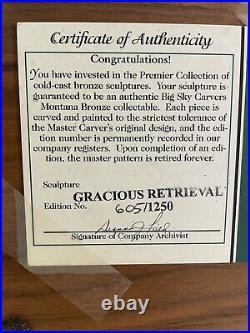 Big Sky Carvers Montana Bronze Collectable Gracious Retrieval