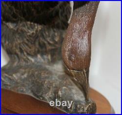 Big Sky Carvers Montana Ducks Unlimited Special Ed Hunter Retriever Dog 16 / 50