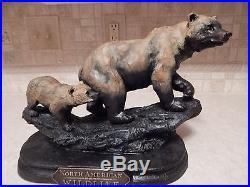 Big Sky Carvers Mountain Matriarch Bear & Cub Sculpture Keep Up