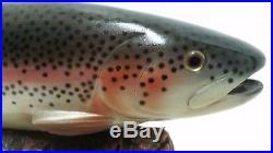 Big Sky Carvers Rainbow Trout 16.75 Signed B. Reel
