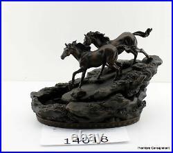 Big Sky Carvers River Runners Marc Pierce Water Fountain Horse Sculpture