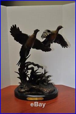 Big Sky Carvers Rooster Bronze Pheasants Figurine by Marc Pierce