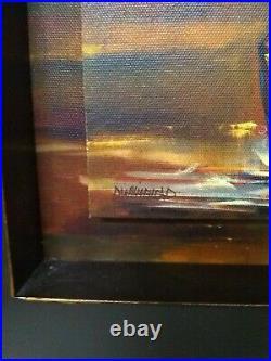 Big Sky Carvers Shadowbox Whitehead, Diane, Oil Painting of Moose 12 x 12