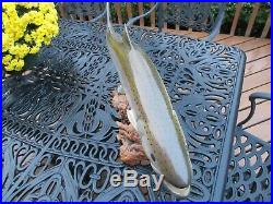 Big Sky Carvers Signed 26 Salmon Wood Carved Salmon Trout