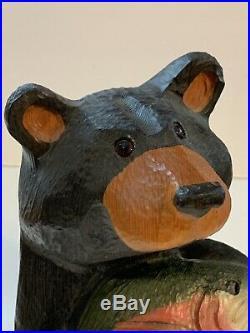 Big Sky Carvers Solid Wood Black Bear Fish Jeff Fleming Man Cave 15