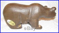 Big Sky Carvers Solid Wood Brown Bear Jeff Fleming