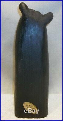Big Sky Carvers Solid Wood Carved Black Bear Holding Fish Jeff Fleming EXCELLENT