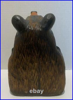 Big Sky Carvers Solid Wood Chum Bear Jeff Fleming 10 Tall