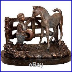 Big Sky Carvers Stonecast Horse Howdy Partner Sculpture NIB B5220014