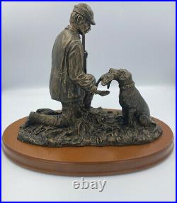 Big Sky Carvers Strong Bond Large Sculpture Hunter Dog Cody Houston 1999