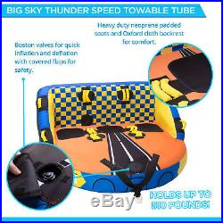 Big Sky Carvers Thunder Seated Towable For 1-3 People
