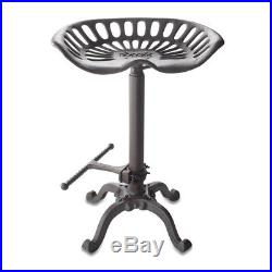 Big Sky Carvers Tractor Seat Bar Stool, Silver