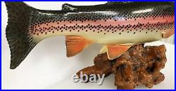 Big Sky Carvers Trophy Rainbow Trout New 1612 Fish Reel Rare Retired Carving