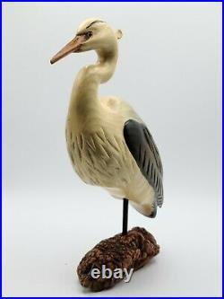 Big Sky Carvers Wood Blue Heron with Driftwood Base 12 x & 8.5