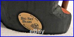 Big Sky Carvers Wood Carved Bear Backpack Hiking Stick Jeff Fleming 16 T Mint