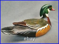 Big Sky Carvers Wood Duck Decoy 1999 Signed Chris Linn