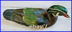 Big Sky Carvers- Wood Duck Decoy with Glass Eyes