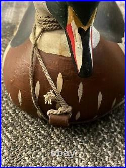 Big Sky Carvers- Wood Duck Decoy with glass eyes Signed Danny Basher