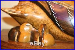 Big Sky Carvers Wood Duck Master's Edition Wood Carving Montana 830/950