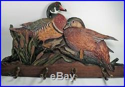 Big Sky Carvers Wood Duck Wall Hat / Coat Rack (mint)