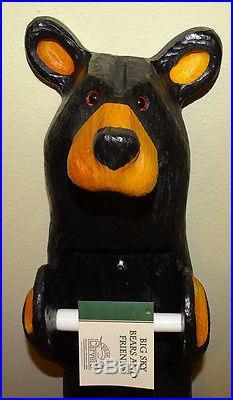 Big Sky Carvers Wood John Bear Toilet Paper Holder Vintage Bearfoots J Fleming
