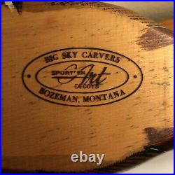 Big Sky Carvers Wood Waterfowl Decoy Carved & Signed by Craig Fellows