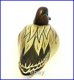 Big Sky Carvers Wooden Duck Green Wing Teal Signed B. Stafford 10 Long