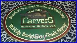 Big Sky Carvers Wooden Sign Oval 3D Duck EC 18.5