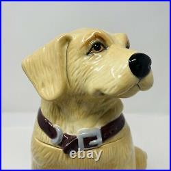 Big Sky Carvers Yellow Lab Ceramic Cookie Jar 2013 Labrador Retriever Dog