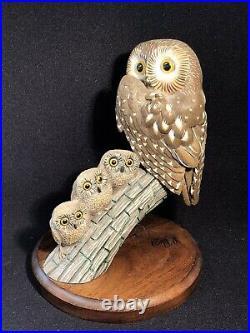 Big Sky Carvers owl & owlets MotherHood Series Signed By Ashley Gray #6 of 1950