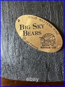 Big Sky Carvers solid pine wood bear by Jeff Fleming Rosie