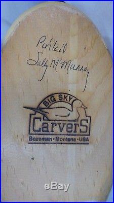 Big Sky Carvers wooden vintage Sally McMurry Pintail Drake Decorative Decoy